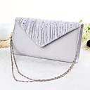 cheap Clutches & Evening Bags-Women's Bags Polyester Evening Bag Crystal / Rhinestone Black / Silver / Apricot / Wedding Bags / Wedding Bags