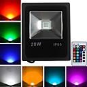 preiswerte Scheinwerfer-1600 lm LED Flutlichter 1 Leds Hochleistungs - LED Ferngesteuert RGB Wechselstrom 85-265V