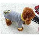 baratos Roupas para Cães-Gato Cachorro Fantasias Camiseta Roupas para Cães Fantasias Desenho Animado Cinzento Ocasiões Especiais Para animais de estimação