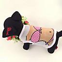 abordables Ropa para Perro-Perro Camiseta Ropa para Perro Caricatura Blanco Algodón Disfraz Para Verano