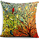 cheap Pillow Covers-1 pcs Cotton / Linen Pillow Cover, Nature Modern / Contemporary