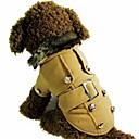 povoljno Odjeća za psa-Mačka Pas Kaputi Odjeća za psa Bijela Rose Braon Pamuk Kostim Za Zima