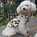 hesapli Köpek Giyimi-Kedi Köpek Svetşört Pijamalar Köpek Giyimi Leopar Siyah Polar Kumaş Kostüm Evcil hayvanlar için Erkek Kadın's Günlük/Sade