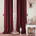 billige Luksus Gardiner-To paneler Window Treatment Moderne , Solid Polyester Materiale gardiner gardiner Hjem Dekor For Vindu