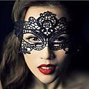 hesapli Cadılar Bayramı Kostümleri-Karnaval Maske Erkek Kadın's Cadılar Bayramı Festival / Tatil Cadılar Bayramı Kostümleri Siyah Solid Dantel