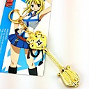 billige Anime Kostumer-Smykker Inspireret af Eventyr Lucy Heartfilia Anime Cosplay Tilbehør Halskæder Legering Herre Dame Varm