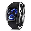 저렴한 사용자 정의 시계-개인 선물 남자 시계 , 디지털 / LED 석영 시계 With 합금 케이스 재질 고무 밴드 스포츠 시계 방수 깊이 31m