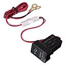 billige Lydanlegg til bilen-3.1a 12 / 24v dual usb porter dashbordbraketten billader adapter