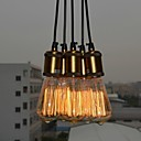 cheap Ceiling Lights-QINGMING® 5-Light Pendant Light Uplight Electroplated Metal Fabric Mini Style 110-120V / 220-240V Bulb Included / E26 / E27