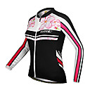 cheap Cycling Jackets-SANTIC Women's Long Sleeve Cycling Jersey Floral / Botanical Bike Jersey, Thermal / Warm, Anatomic Design, Ultraviolet Resistant