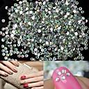 abordables Calcomanías de Uñas-1400pcs cristal brillo 2mm decoración ab nail art rhinestone