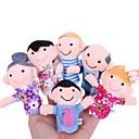 preiswerte Marionetten-Actionfiguren Fingerpuppen Marionetten Niedlich lieblich Textil Plüsch Mädchen Geschenk 6pcs