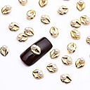 billige Rhinsten&Dekorationer-Negle Smykker Smuk Negle kunst Manicure Pedicure Metal Frugt / Blomst / Abstrakt / Tegneserie