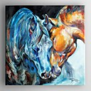 cheap People Paintings-Oil Painting Hand Painted - Animals Comtemporary Canvas