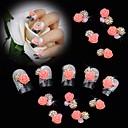hesapli Tırnak Takısı-10 Nail Jewelry Glitter & Poudre Çiçek Klasik Düğün Günlük Çiçek Klasik Düğün Yüksek kalite