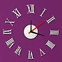 baratos Bricolage Relógios de Parede-Moderno/Contemporâneo Cristal Redonda Interior,AA