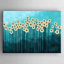 cheap Oil Paintings-Oil Painting Hand Painted - Floral / Botanical Classic Canvas