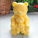 billige Bakeformer-bære dyr hjerteformet  kake sjokolade silikon Form kake dekorasjon verktøy, l8.5cm * b6.2cm * h4.8cm