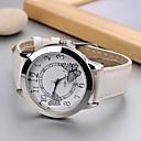 preiswerte Modische Uhren-Damen Modeuhr Japanisch Quartz 30 m Armbanduhren für den Alltag PU Band Analog Schmetterling Schwarz / Weiß / Rose - Weiß Schwarz Rose Ein Jahr Batterielebensdauer