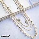 preiswerte Parykopfbedeckungen-Damen Stränge Halskette / Perlenkette - Perle Modisch Pearl White Modische Halsketten Schmuck Für Party, Alltag, Normal