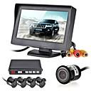 Недорогие Камеры заднего вида для авто-12v 4 парковочные датчики ЖК-дисплей монитора видеокамера автомобиля обратный Резервное копирование радар Комплект системы Звуковой сигнал