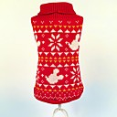 preiswerte Hundekleidung-Katze Hund Pullover Hundekleidung Weihnachten Schneeflocke Rot Kostüm Für Haustiere