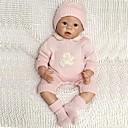 ราคาถูก Reborn Dolls-NPKCOLLECTION ตุ๊กตา NPK Reborn Dolls เด็กทารก 22 inch ซิลิโคน ไวนิล - ทารกแรกเกิด เหมือนจริง ทำด้วยมือ Child Safe Non Toxic ขนตาปลอมมือ เด็ก เด็กผู้หญิง Toy ของขวัญ / CE / โทนผิวธรรมชาติ