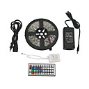 cheap LED Strip Lights-ZDM® 5m Light Sets 300 LEDs 5050 SMD 1 12V 6A Adapter / 1 44Keys Remote Controller / 1 AC Cable RGB Cuttable / Waterproof / Self-adhesive 12 V 1set / IP65