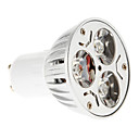 זול נורות לד LED-15-20/30-35 lm GU10 תאורת ספוט לד 3 נוריות כחול אדום AC 85-265V