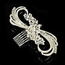cheap Bakeware-Sterling Silver Alloy Hair Combs Flowers 1 Wedding Special Occasion Headpiece