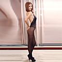 povoljno Odjeća za fitness, trčanje i jogu-Žene Mrežica Veći konfekcijski brojevi Super seksi Seksi bodi Noćno rublje Jednobojni Crn XL XXL XXXL
