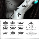 cheap Temporary Tattoos-1 pcs Tattoo Stickers Temporary Tattoos Message Series / Cartoon Series Smooth Sticker / High quality, formaldehyde free Body Arts Body / Wrist / Chest