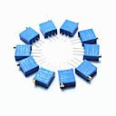 preiswerte Andere Teile-3296 Hochpräzisions 104 100 kOhm variablen Widerstand Potentiometer Trimmer - blau (10 Stück)