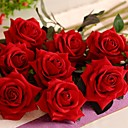 cheap Artificial Flower-Artificial Flowers 1 Branch Modern Style Roses Tabletop Flower