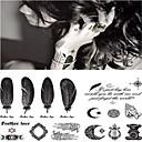 baratos Tatuagens Temporárias-Etiqueta do tatuagem Corpo / pulso / Perna Tatuagens temporárias 1 pcs Série Romântica Adesivo Liso / Novo Design Arte para o Corpo Desportos e Ar livre / Festa / Noite