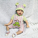 preiswerte Lebensechte Puppe-Lebensechte Puppe Baby 22 Zoll Silikon Vinyl - Neugeborenes lebensecht Handgemacht Kindersicherung Non Toxic Kinder Mädchen Spielzeuge Geschenk