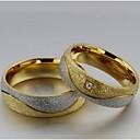 preiswerte Moderinge-Damen Eheringe / Statement-Ring - Titanstahl, Diamantimitate Liebe 5 / 6 / 7 Gold / Weiß Für Hochzeit / Party / Alltag