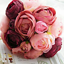 cheap Artificial Flower-Artificial Flowers 1 Branch Wedding Flowers Roses Tabletop Flower