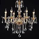 preiswerte Kronleuchter-6-Licht Kerzen-Stil Kronleuchter Raumbeleuchtung - Kristall, LED, 110-120V / 220-240V, Wärm Weiß, Glühbirne nicht inklusive / 15-20㎡