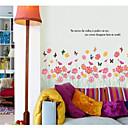 זול עגילים-L ו-scape פרחים בוטני מדבקות קיר מדבקות קיר מטוס מדבקות קיר דקורטיביות, ויניל קישוט הבית מדבקות קיר קיר