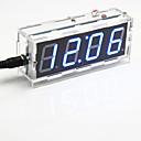 זול חרוזים-ערכת תצוגת שבע-קטע בן 4 ספרות DIY שעון שולחן שליטת אור הדיגיטלי (אור הכחול)