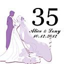 hesapli Yer Kartları ve Tutacakları-kişiselleştirilmiş kare masa numarası kartı - düğün (10 set)