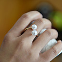 preiswerte Moderinge-Damen Bandring - Perle Ohne Verschluss Verstellbar Golden Für Hochzeit / Party / Alltag