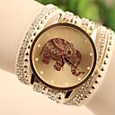 preiswerte Armband-Uhren-Damen Armband-Uhr / Armbanduhr Imitation Diamant Leder Band Zeichentrick / Modisch Weiß / Blau / Rot