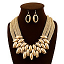 cheap Bag Sets-Women's Jewelry Set - Statement, Luxury, Vintage Include Drop Earrings Bib necklace Screen Color For Party Special Occasion Daily / Necklace