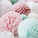 cheap Wedding Decorations-Wedding Party Pearl Paper Mixed Material Wedding Decorations Beach Theme / Garden Theme / Floral Theme / Butterfly Theme / Classic Theme