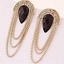 billige Mode Øreringe-Dame Kvast Dråbeøreringe - Harpiks Dråbe Erklæring, Tassel, Mode Guld Til