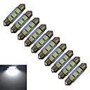 cheap LED Bi-pin Lights-0.5W 60 lm Festoon Decoration Light 3 leds SMD 5050 Cold White DC 12V