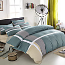 cheap Solid Duvet Covers-Duvet Cover Sets Solid Lines / Waves 4 Piece 100% Cotton Reactive Print 100% Cotton 1pc Duvet Cover 2pcs Shams 1pc Flat Sheet