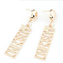 preiswerte Halsbänder-Damen Monogramme Tropfen-Ohrringe - Erklärung, Erste Schmuck Gold Für